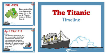 The Titanic Order of Events Timeline Presentation - titanic