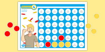 Connect 4 Conditional Self-Checking Board Game-French