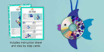 CD Fish Craft Instructions (Under the Sea) - under the sea, activities