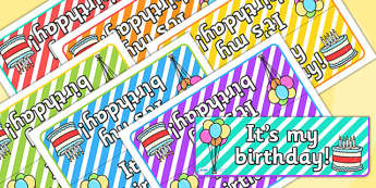 Its My Birthday Foldable Tabletop Sign - birthday, its my birthday, tabletop signs, foldable signs, birthday signs, class management, behaviour management