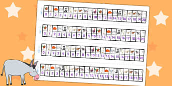 Number Track 0-20 to Support Teaching on Farmyard Hullabaloo - farm, maths aid, count