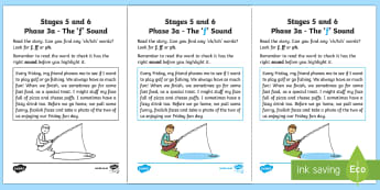 NI Linguistic Phonics Stage 5 and 6 Phase 3a, 'f' Sound Activity Sheet - Linguistic Phonics, Phase 3a, Northern Ireland, 'f' sound, sound search, text, Worksheet