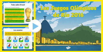 KS2 Olympic Games Rio 2016 PowerPoint-Spanish