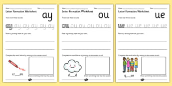 Phase 5 Letter Formation Worksheets - phase 5, letter, worksheet