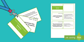 Year 3 Lanyard Sized Statistics Objectives Cards - year 2, year three, y3, objectives, National Curriculum, statistics, deeper understanding, reasoning