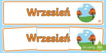 Banner na gazetkę Wrzesień - gazetka, gazetkę, ścienną, ścienna, ściana, wrzesień, września, wrześniowa, żniwa, jesień,