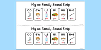 My OO Sound Family Strip - Sound family, OO, alternate spellings, alternate spellings for phonemes, family, sounds, phoneme, phonemes