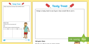 Foundation Tasty Treat Collecting Data Activity Sheet - Australian Curriculum Statistics and Probability, Worksheet, data representation and interpretation,