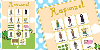 Rapunzel Vocabulary Poster - vocabulary poster, rapunzel, display