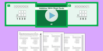 KS2 Reasoning Test Practice Missing Number Calculations Addition with Digit Cards Resource Pack - Key Stage 2, KS2, Reasoning, Test, Practise, Missing Number, Addition