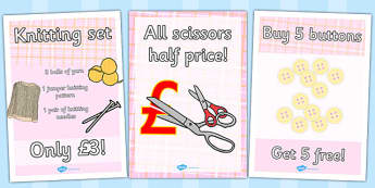 Haberdashery Role Play Posters - haberdashery, role-play, poster