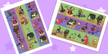Display Borders to Support Teaching on Room on the Broom - room on the broom, display borders, themed borders, display, borders, classroom borders, display board borders