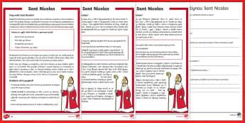 Darllen a D.eall Gwahaniaethol CA1 Sant Nicolas - nadolig, sant nicolas, sion corn, hanes, darllen, deall,Welsh
