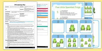 Five Little Speckled Frogs Parachute Activity EYFS Adult Input Plan and Resource Pack - EYFS planning, early years activities, number, counting, changes in quantity, adult led