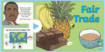 Fair Trade Information PowerPoint -  fairtrade, fair trade, Fairtrade, Fair trade, food, food around the world, where does our food come
