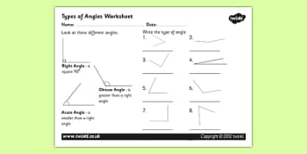 Acute and Obtuse Angles Activity Sheet - angles, angles worksheet, acute and obtuse angles, different angles activity sheet, shapes activity sheet, ks2 numeracy worksheet