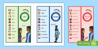 One Keyword in 10 Different Languages Bookmarks-French