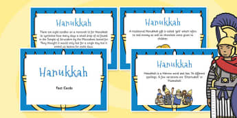 Hanukkah Display Fact Cards - Hanukkah, Display, Fact, Cards
