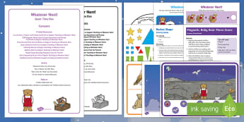 Quiet Time Box to Support Teaching on Whatever Next!  - Whatever Next, Jill Murphy, space, teddy bear, moon, owl