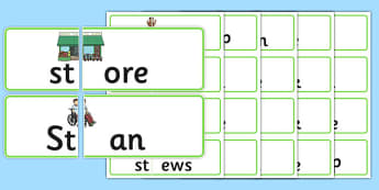 St Blends Jigsaws - st sound, jigsaws, puzzle, activity, sen, class