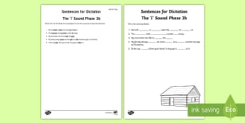 Northern Ireland Linguistic Phonics Stage 5 and 6, Phase 3b, 'i' Dictation Sentences Activity - Linguistic Phonics, Stage 5, Stage 6, Phase 3b, Northern Ireland, sentences, dictation, words, 'i