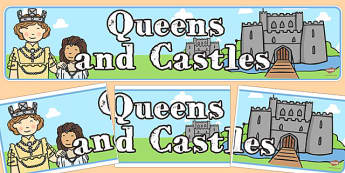 Queens and Castles Display Banner - queens, castles, display banner
