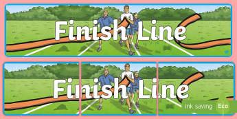 Sports Day Finish Line Banner - Sport's Day, finish line, sports day, summer, end of term, summer term, school holidays,Scottish