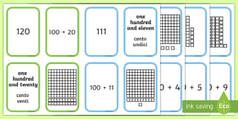 Place Value Go Fish Style Activity English/Italian - Place Value Go Fish Style Activity - place value game, ks2 maths game, place value card game, maths