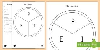 Author's Purpose PIE Craft Instructions - Author's Purpose, Persuade, Inform, Entertain, Author's Purpose Craft, PIE craft