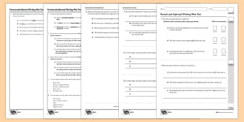 Formal and Informal Writing Test - GPS, language, grammar, subjunctive
