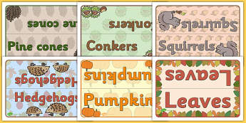 Editable Class Group Table Signs (Autumn) - Autumn, group signs, group labels, group table signs, table sign, teaching groups, class group, class groups, table label, harvest,  harvest festival, fruit, apple, pear, orange, wheat, bread, grain, leaves