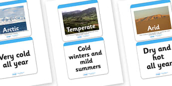 Climates Matching Cards - climates, matching cards, matching game, matching activity, climates activity, climates matching cards game, different climates, geography, weather conditions
