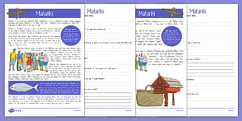 Matariki Differentiated Reading Comprehension Activity - Matariki, Maori New Year celebrations, Maori