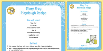 Frog Playdough Recipe - Frog life cycle, green, sensory, malleable, creative, fine, motor, skills, control, design, make, play dough, eyfs, early years