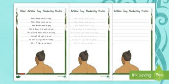 Maori Battalion Handwriting Practise Activity Sheet - New Zealand, Anzac Day, 25 April, ANZAC, Poppies, World War 1, worksheet, World War 2, Gallipoli, Ma