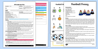 EYFS Phase 2 Football Board Game Adult Input Plan and Resource Pack - lesson plan