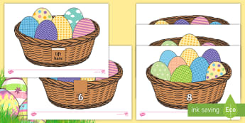 Easter Egg Estimate and Count Activity Sheets - EYFS, Early Years, KS1, Easter, Easter eggs, estimate, count, numbers to 10, Worksheets, Maths, Nume