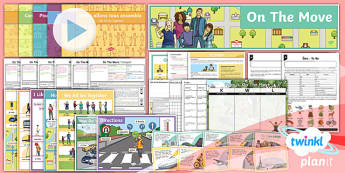 PlanIt - French Year 4 - On the Move Unit Pack - french, languages, transport, direction, grammar
