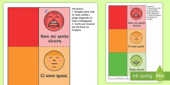 Il triangolo delle emozioni semaforo Attività - comportamentio, sostegno, relazioni, sentimenti, emozioni, italiano, italiano, materiale, scolastico