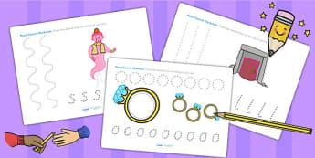 Aladdin Pencil Control Worksheets - aladdin, fine motor skills