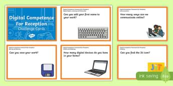 Digital Competence for Reception Challenge Cards-Welsh