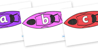 Phase 2 Phonemes on Kayaks - Phonemes, phoneme, Phase 2, Phase two, Foundation, Literacy, Letters and Sounds, DfES, display