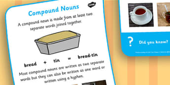 Compound Nouns Display Poster - Nouns, Display, Words, Poster