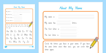 About My Name Activity Sheet - New Zealand Back to School, All about me, My name, Year 1, beginning of school, starting school, wor