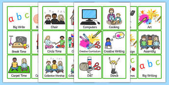 KS2 Visual Timetable - KS2, key stage two, key stage 2, visual timetable, visual aid, visual cards, word cards, flash cards, words, key words, keywords
