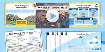 PlanIt Y1 Explorers: To Support Teaching on We're Going a Bear Hunt Lesson Pack Story Writing (5)  - Explorers: Bear Hunt, story writing, story with repeating parts, michael rosen, bears, ks1, key stag