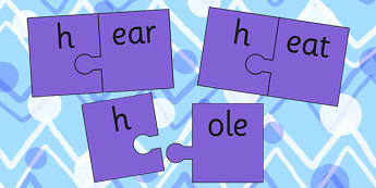 h And Vowel Production Jigsaw Cut Outs - h, vowel, jigsaw, sounds