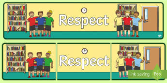 Respect Banner - New Zealand Back to School, value, key competency, class culture, respect, respecting others, respec