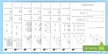 Fraction Ordering Differentiated Activity Sheets - Math, Fractions, Fraction Ordering, Comparing Fractions, worksheet, convert, represent.