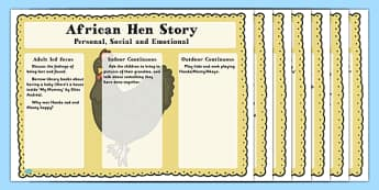African Hen Story Lesson Plan Ideas EYFS - lessons, planning